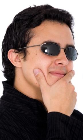 Hispanic Man getting a loan from Noble Finance