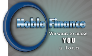 Noble finance is your source for money logo